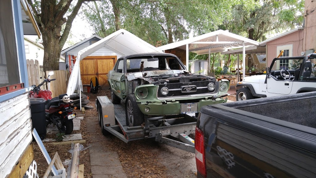 """The 67′ being loaded up for transport over to """"The Ranch"""""""